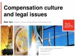 compensation culture and legal issues