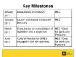key milestones14