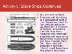 activity 3 slave ships continued
