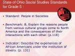 state of ohio social studies standards for grade 5