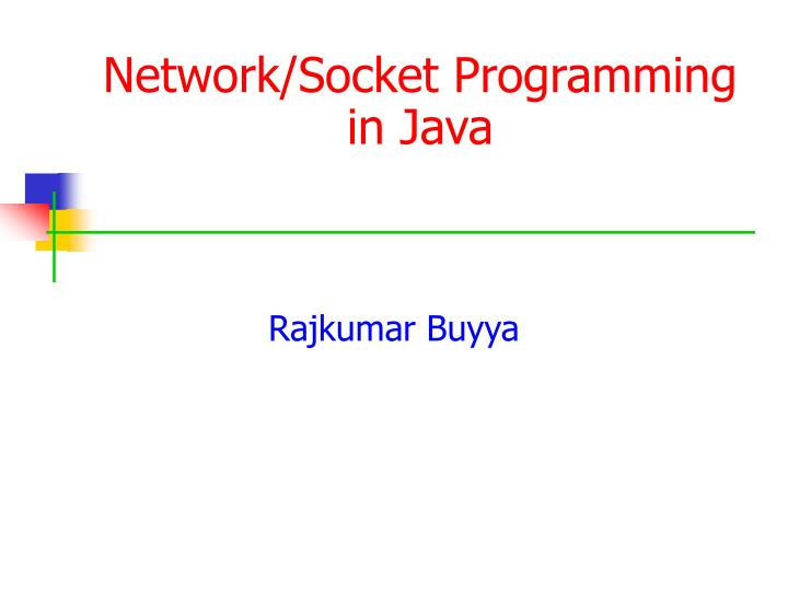 Network socket programming in java