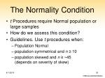 the normality condition