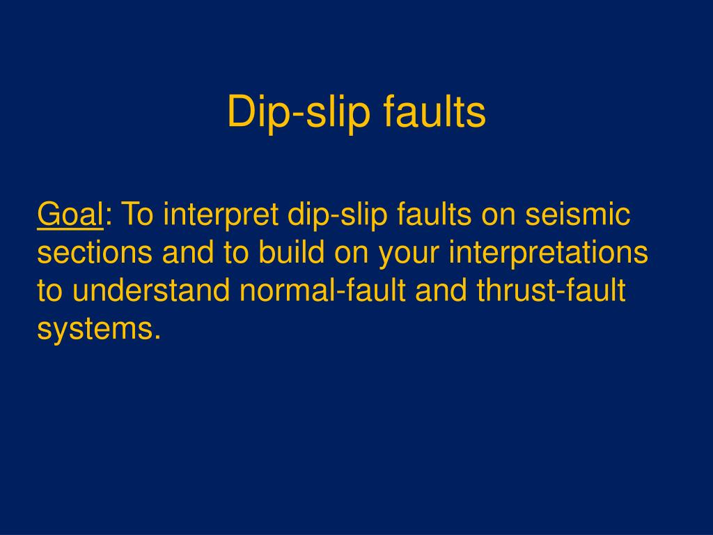 dip slip faults l.
