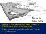 dissected thrust belts