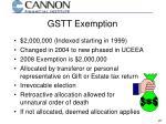 gstt exemption