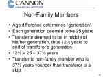 non family members