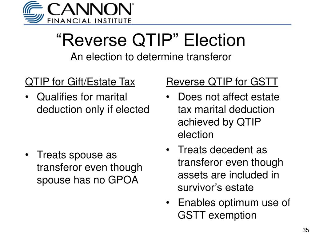 QTIP for Gift/Estate Tax