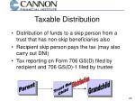 taxable distribution