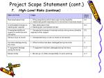project scope statement cont10