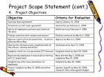 project scope statement cont7
