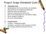 project scope statement cont8