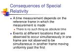 consequences of special relativity