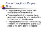 proper length vs proper time