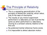 the principle of relativity