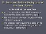ii social and political background of the great society
