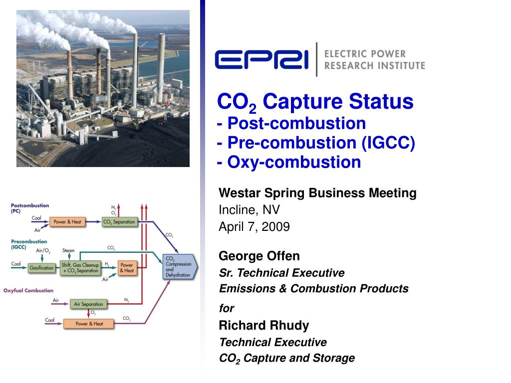 co 2 capture status post combustion pre combustion igcc oxy combustion l.