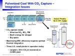 pulverized coal with co 2 capture integration issues