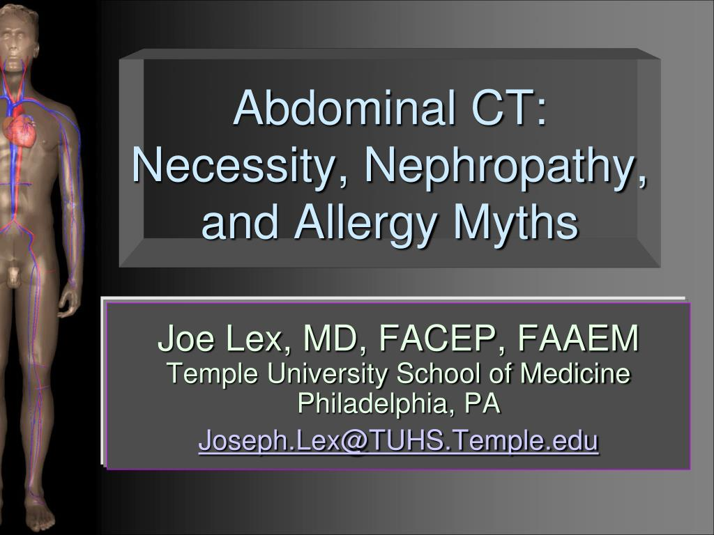 abdominal ct necessity nephropathy and allergy myths l.