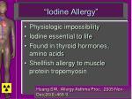iodine allergy
