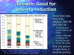 growth good for poverty reduction