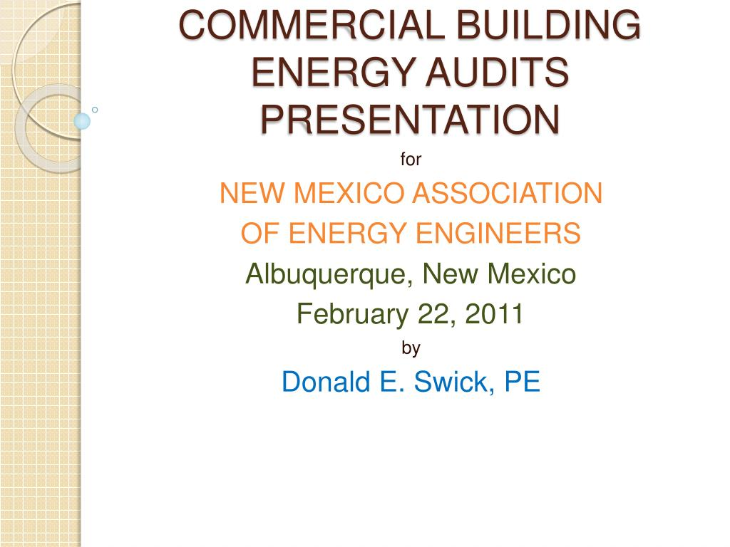 commercial building energy audits presentation l.