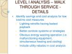 level i analysis walk through service details25