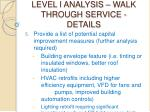 level i analysis walk through service details26