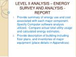 level ii analysis energy survey and analysis report