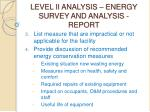 level ii analysis energy survey and analysis report49