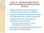 level iii detailed analysis of capital intensive modifications details54