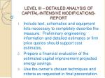level iii detailed analysis of capital intensive modifications report