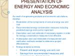 presentation of energy and economic analysis