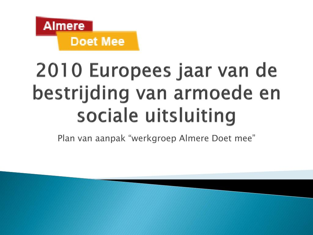 2010 europees jaar van de bestrijding van armoede en sociale uitsluiting l.