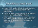 formatting a gantt chart