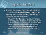 negative lag time