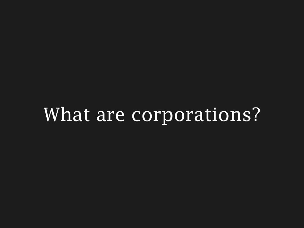 what are corporations l.