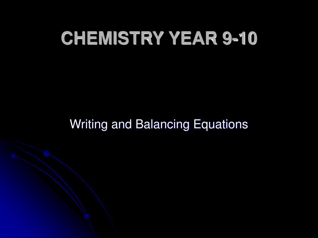 chemistry year 9 10 l.