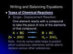 writing and balancing equations13