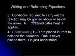 writing and balancing equations4