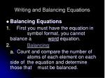 writing and balancing equations6