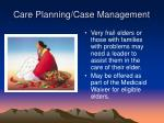 care planning case management