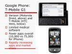 google phone t mobile g1