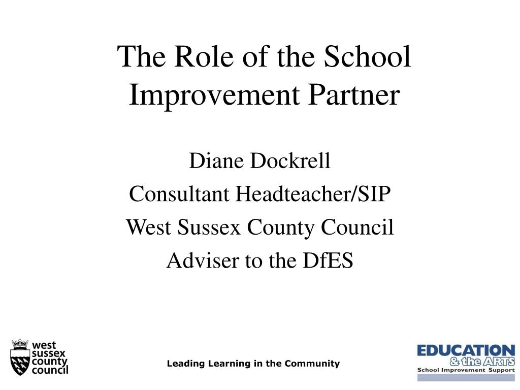 the role of the school improvement partner l.