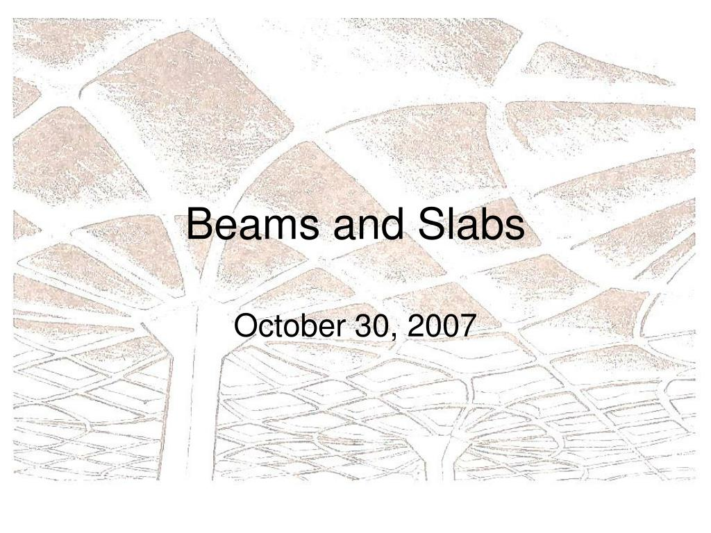 beams and slabs l.