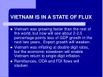 vietnam is in a state of flux