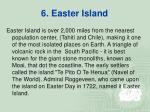 6 easter island