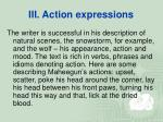 iii action expressions