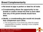 breed complementarity