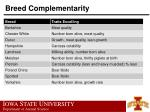 breed complementarity48