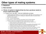 other types of mating systems61